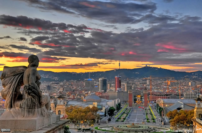 Barcelona from the heights